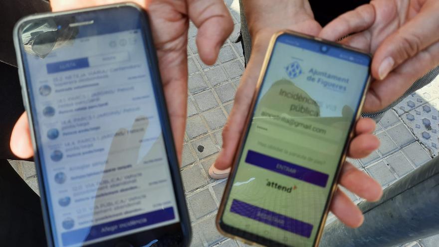 L'aplicació Figueres Millora permet resoldre 2.279 incidències a la via pública en els set primers mesos de l'any