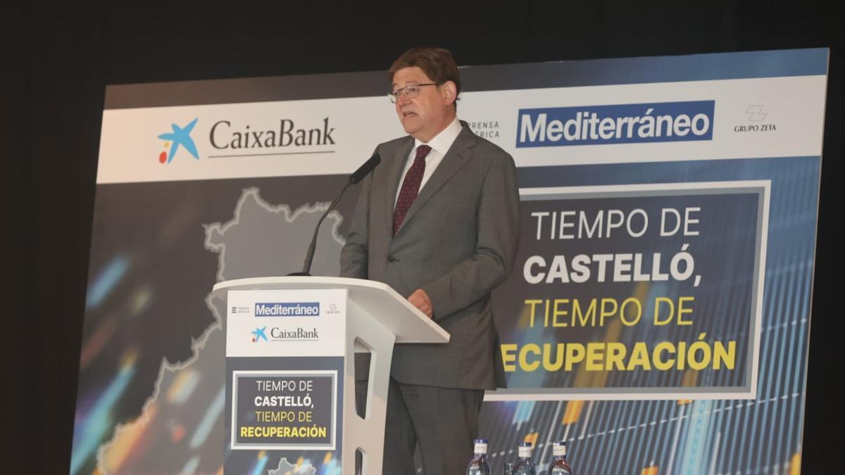 Ximo Puig, durante la ponencia en el Desayuno Empresarial