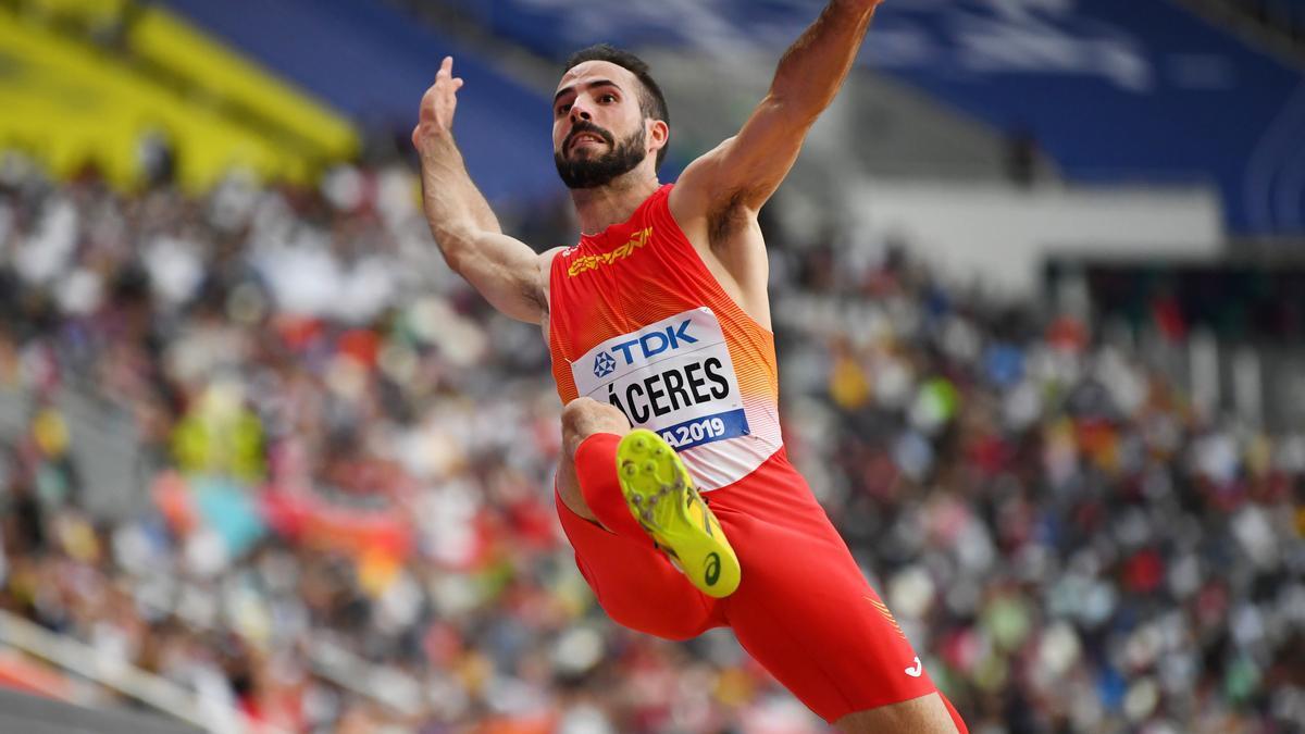 Eusebio Cáceres, en los Mundiales de Doha 2019