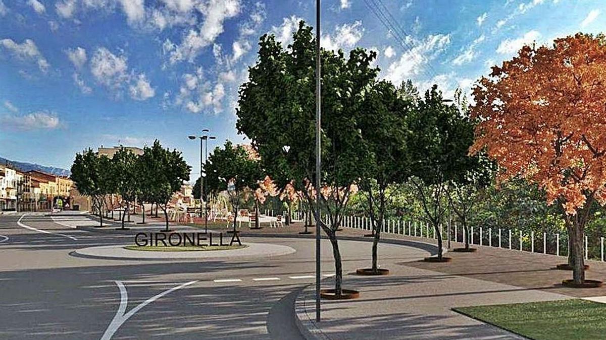 Recreació del projecte de transformació de l'entrada sud del municipi | ARXIU/AJ. DE GIRONELLA