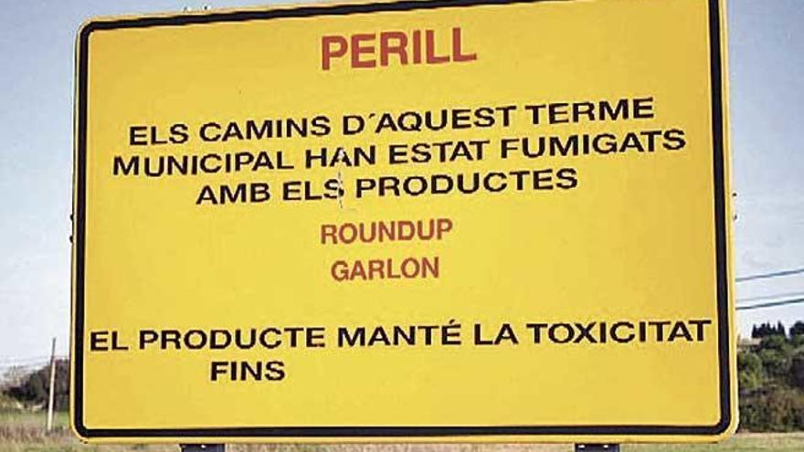 Amics de la Terra exige al Consell que deje de utilizar herbicidas con glifosato