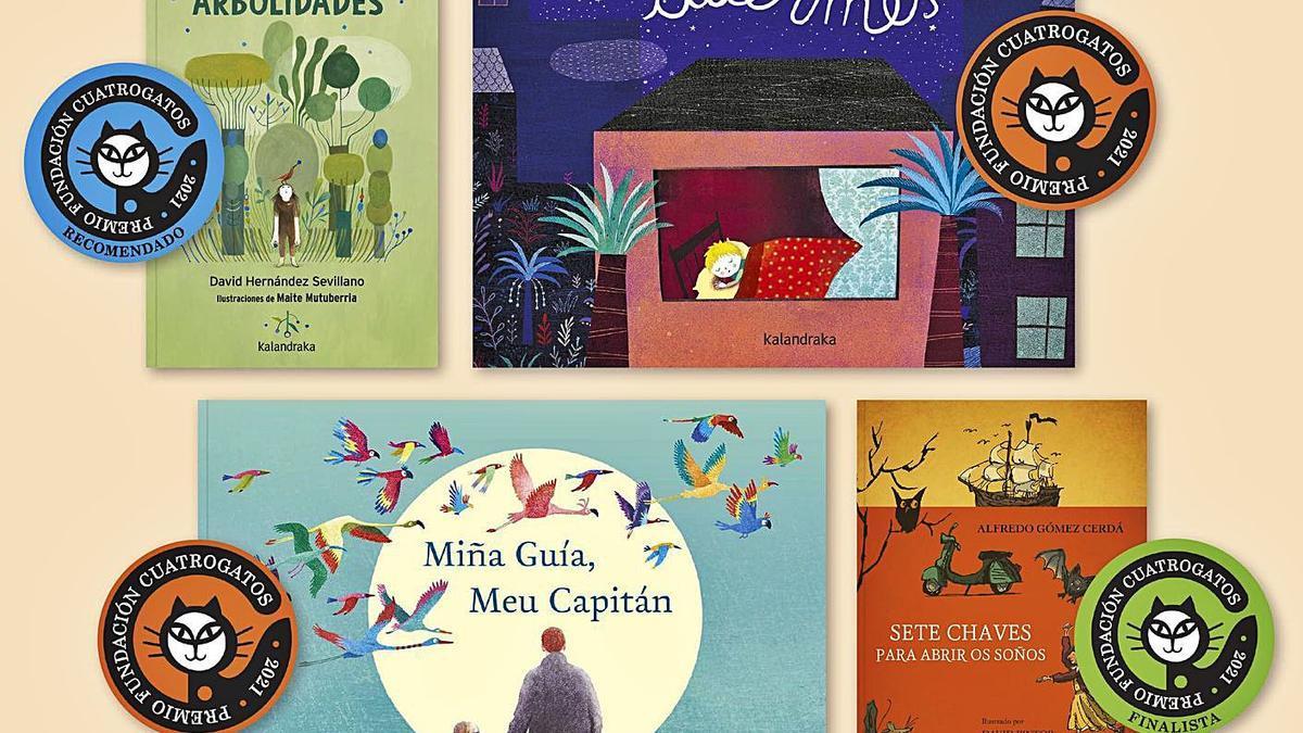 La editorial Kalandraka incluye este año 4 libros entre los 20 títulos más recomendados para niños y jóvenes.