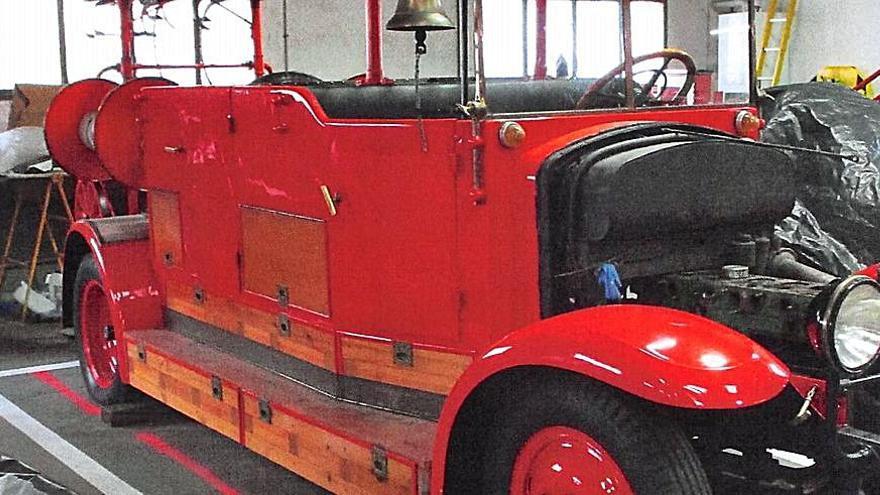 El Ayuntamiento de Zamora restaura el camión histórico de bomberos, del año 1929
