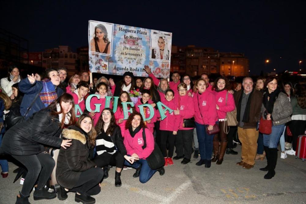 Las candidatas llegan a Alicante después de haber promocionado las Hogueras en Fitur.