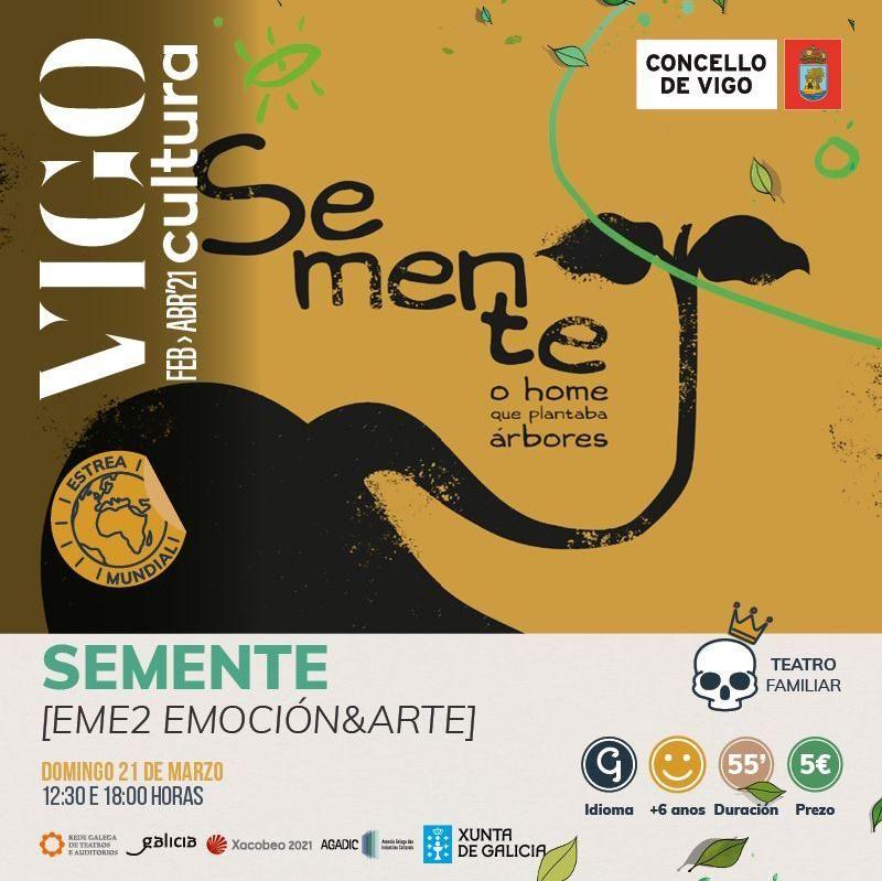 """Cartel de """"Semente"""" de VigoCultura 2021"""