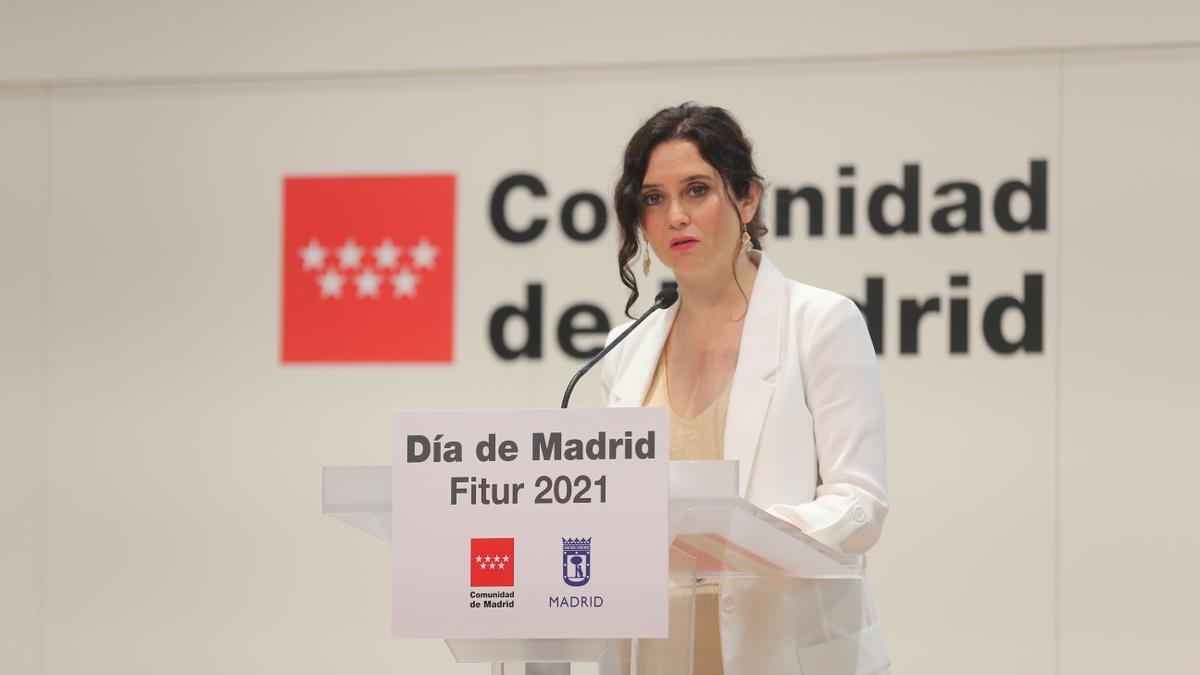 La presidenta de la Comunidad en funciones, Isabel Díaz Ayuso.