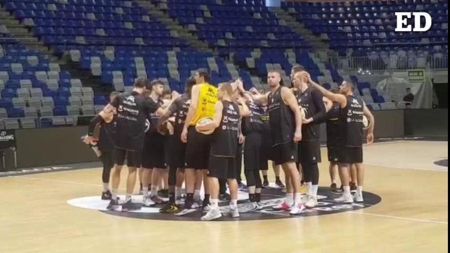 Entrenamiento del CB Canarias antes de su estreno en Copa del Rey 2020