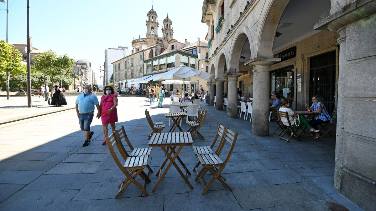 Una terraza el pasado verano en las inmediaciones de A Ferrería.