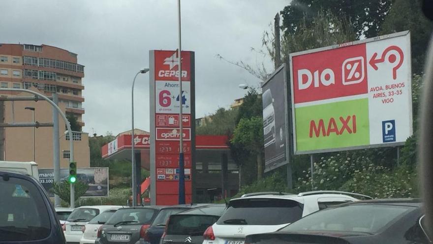 El litro de gasóleo acaricia los 1,30 euros en Vigo, ciudad más cara de España para repostar