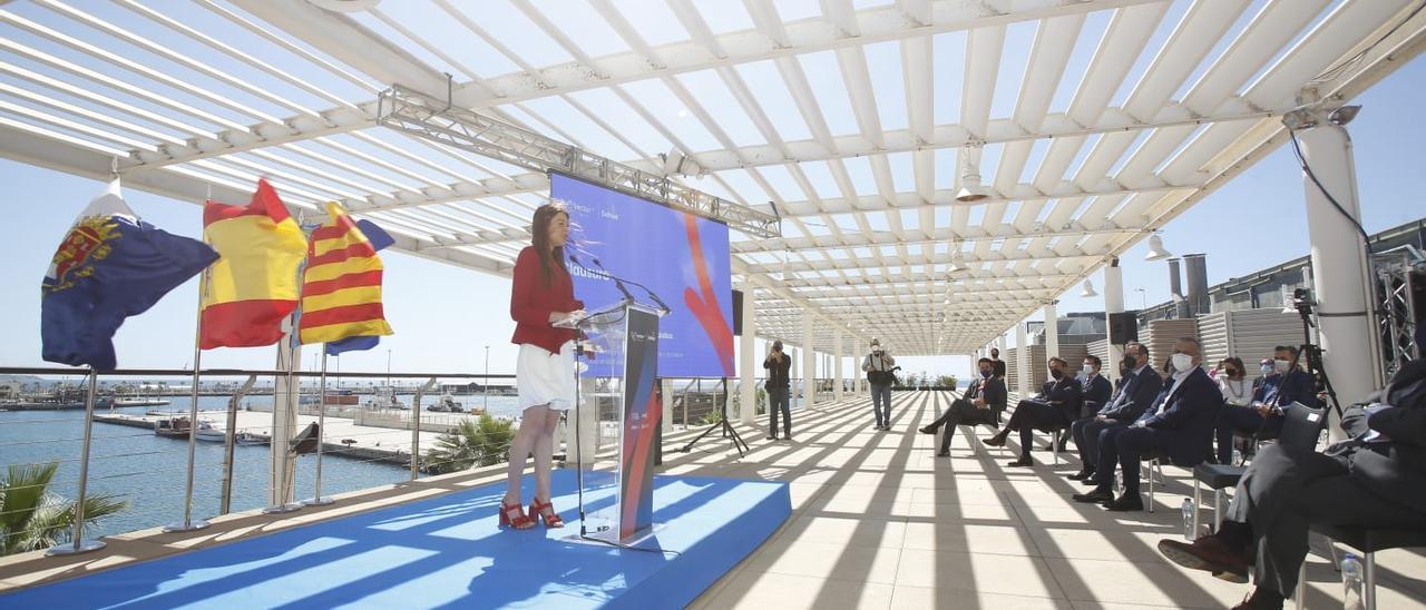 La consellera Carolina Pascual en el acto de presentación de Vector ITC.