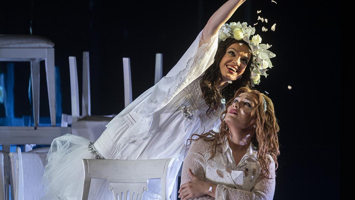 Una escena de la ópera.