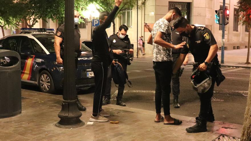 Diecinueve detenidos por robos tras el fin del toque de queda en Alicante