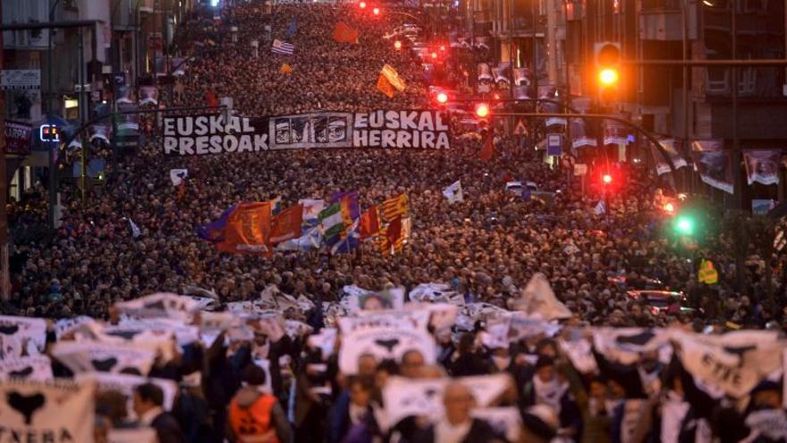 Marcha en Bilbao contra la dispersión de los presos de ETA