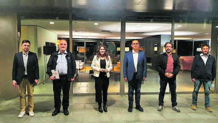 Les institucions donen suport  al Geoparc durant la visita  dels avaluadors de la Unesco