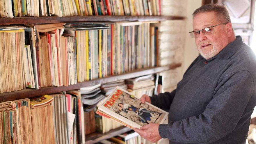 La passió pel còmic de Jordi Ametlla nodreix una col·lecció d'envergadura a Castelló