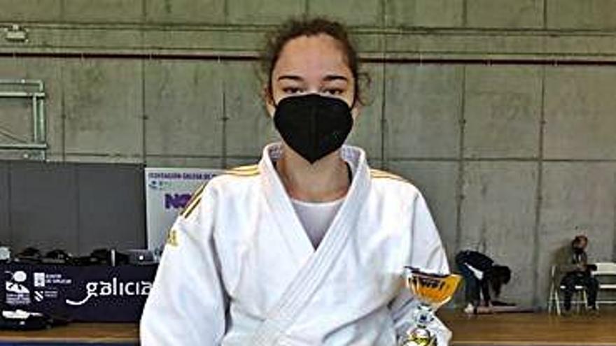 La judoka estradense Alicia López, bronce en la Copa de España