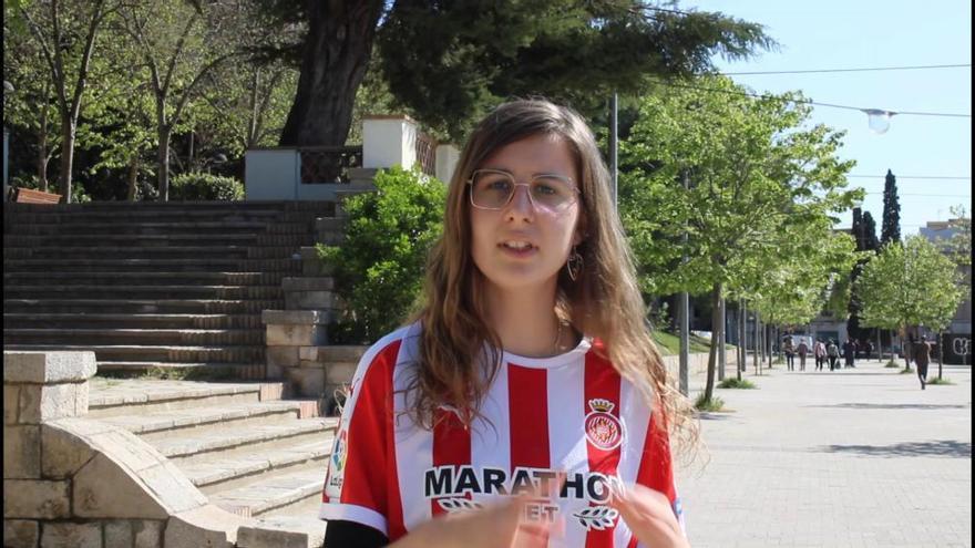 Aina Garcia: «El públic femení encara som minoria al camp del Girona»