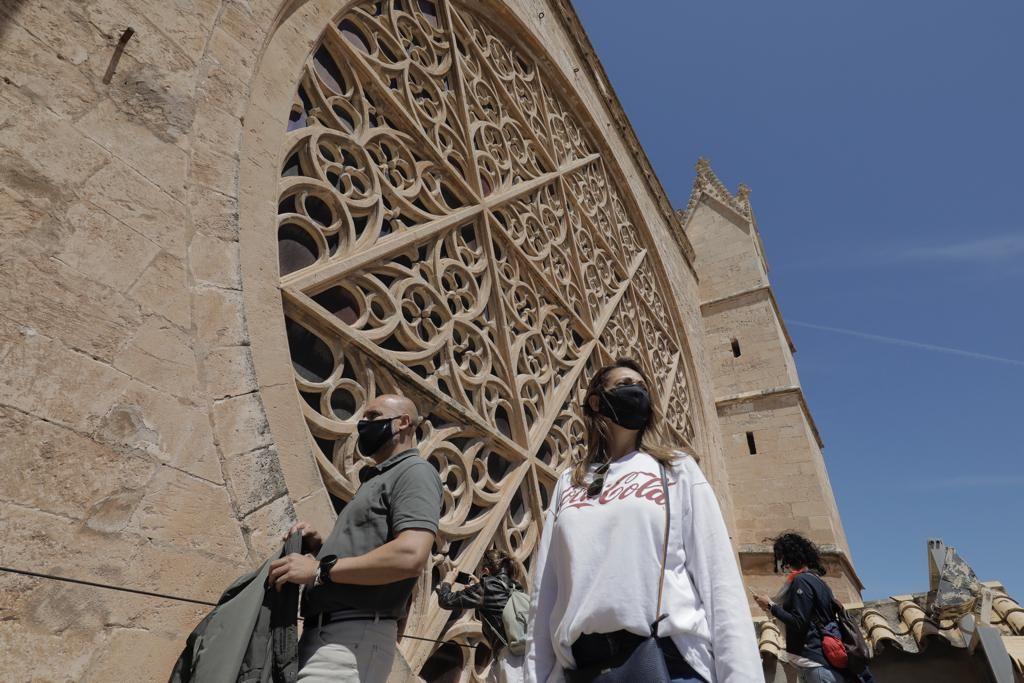 Vuelven las visitas a las terrazas de la Catedral de Mallorca