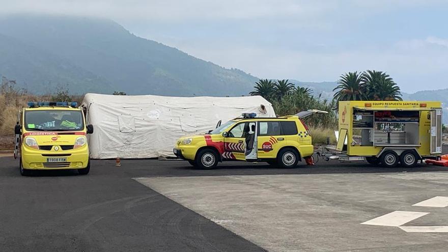 El SUC refuerza el dispositivo sanitario de respuesta inmediata en la isla de La Palma