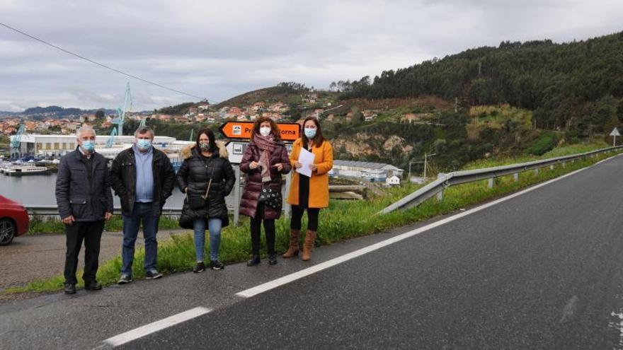 El PSOE exige en el Parlamento la senda peatonal para unir Meira y Domaio y la Xunta alega que se licitará en meses