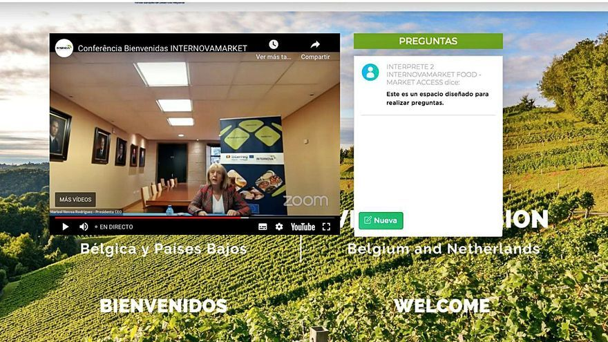 Importadores de Bélgica y Países Bajos buscan vinos y productos alimentarios