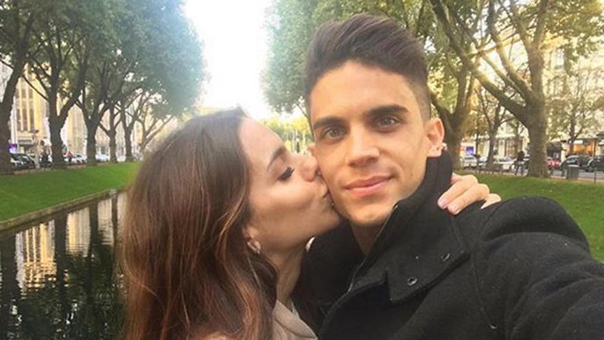 Melissa Jiménez y Marc Bartra esperan su segunda hija
