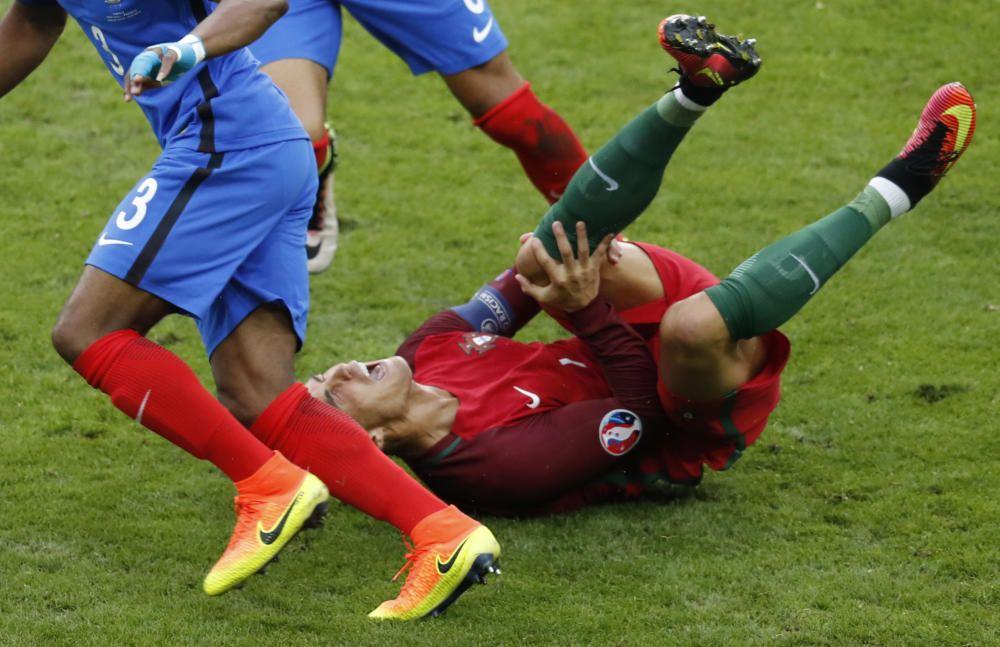 Las lágrimas de Cristiano Ronaldo tras su lesión