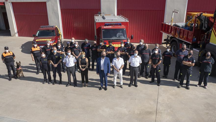 Martí pone en valor que este verano los bomberos han rescatado a 34 personas en situación grave