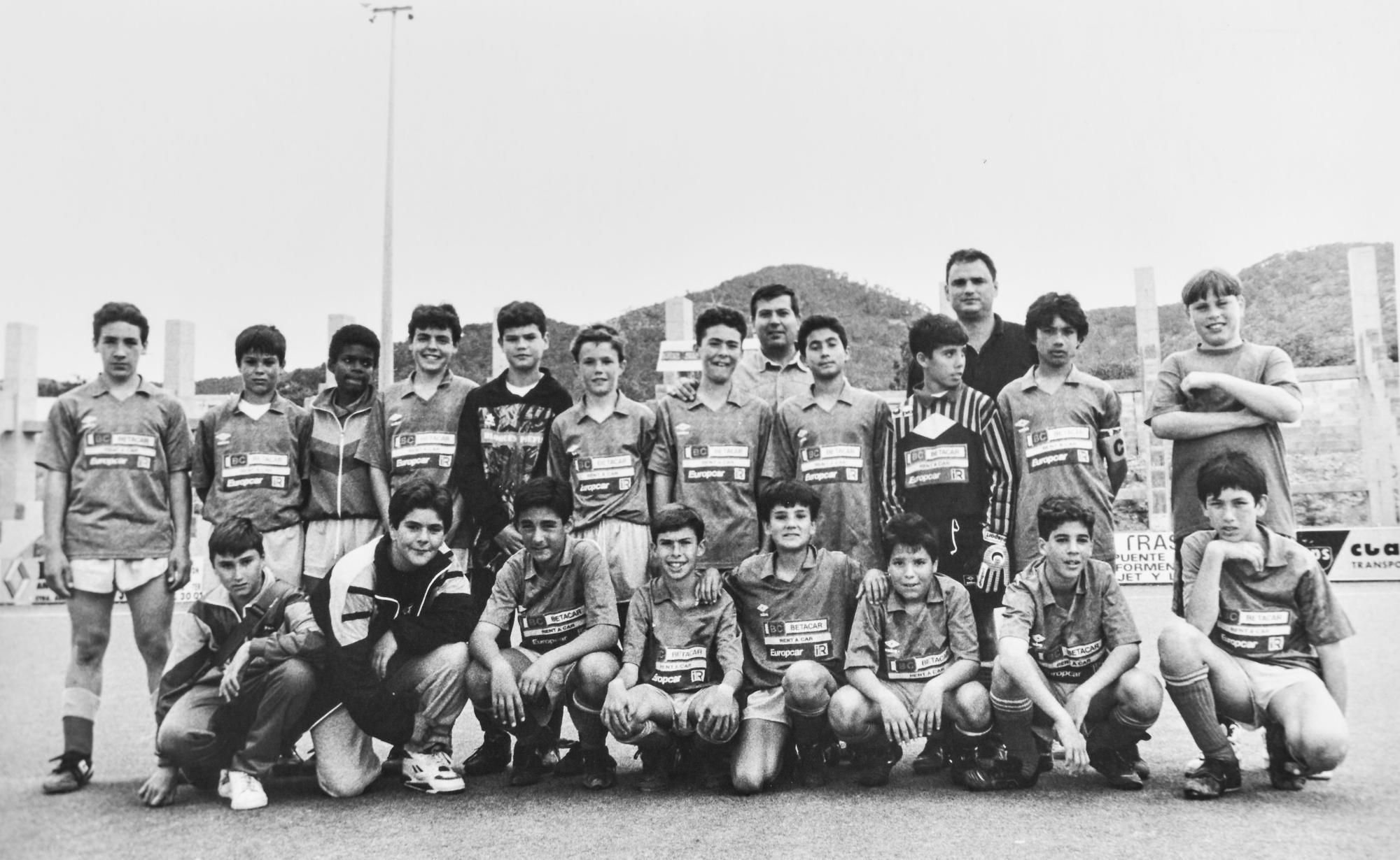 Plantilla del Atlético Isleño infantil de 1993.