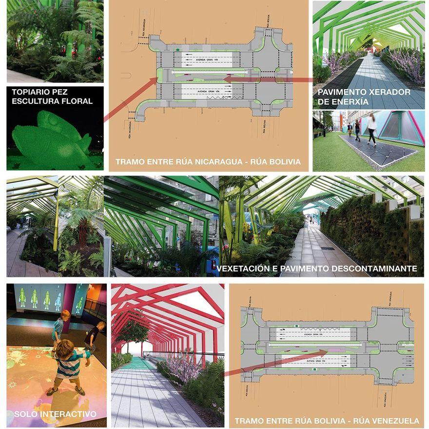 Infografías de los nuevos tramos de las rampas mecánicas de Gran Vía