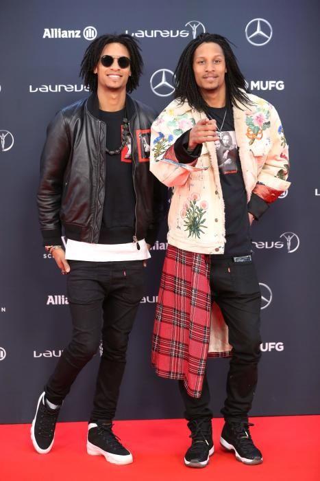 """Los bailarines franceses Laurent y Larry Nicolas Bourgeois, """"Les Twins""""."""