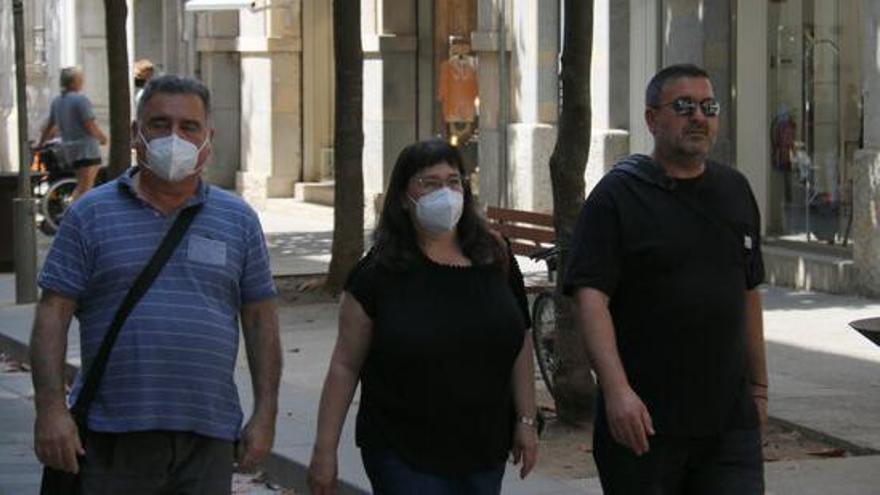 Declaracions de veïns de Girona en el primer dia sense mascareta a la ciutat