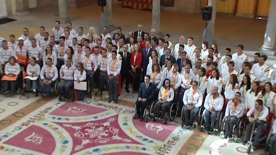 Los Reyes homenajean a los olímpicos y paralímpicos españoles
