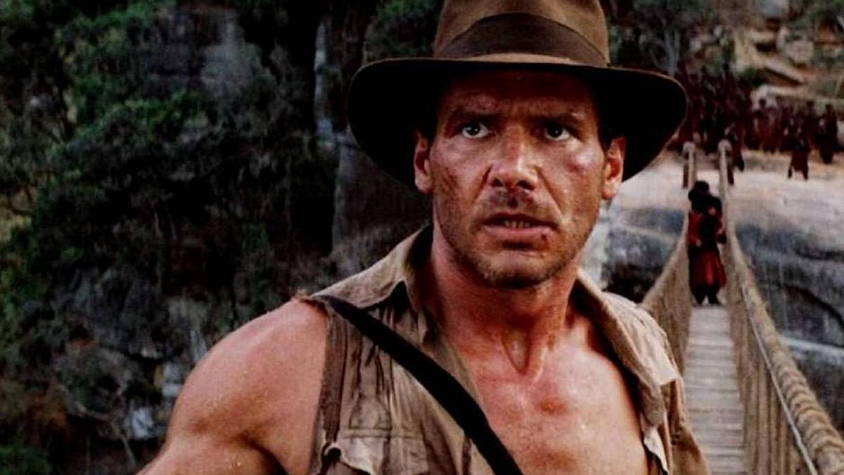 Harrison Ford como Indiana Jones.
