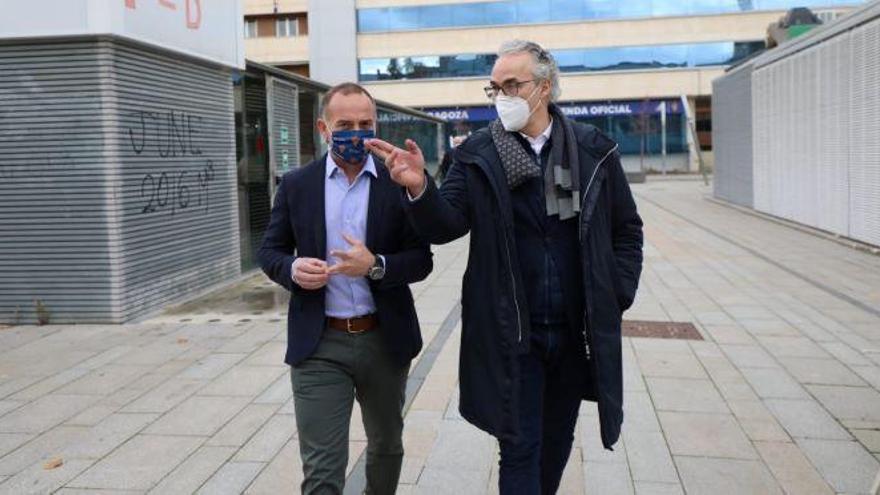Presentación de Torrecilla como nuevo director deportivo del Zaragoza