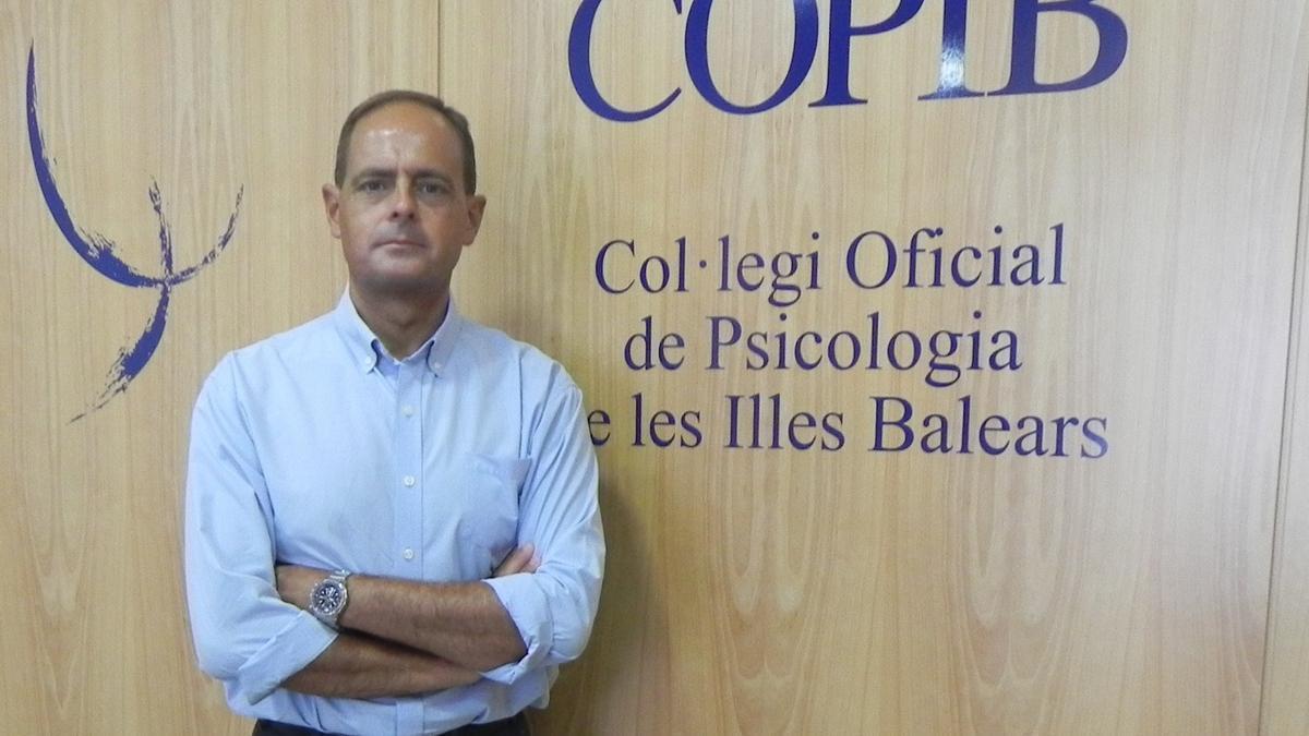 Javier Torres Ailhaud, decano del Col·legi Oficial de Psicologia de les Illes Balears.