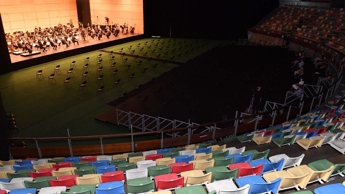Concierto de la Sinfónica de Galicia en el Coliseum de A Coruña.