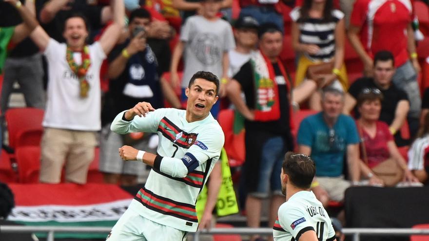 Portugal sufre pero cumple ante Hungría con un doblete de Cristiano Ronaldo