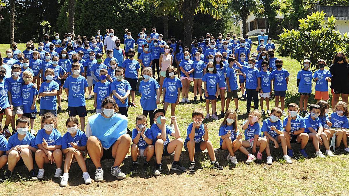 Finaliza el primer turno del Campus Deportivo de Verán en A Estrada | BERNABÉ/JAVIER LALÍN