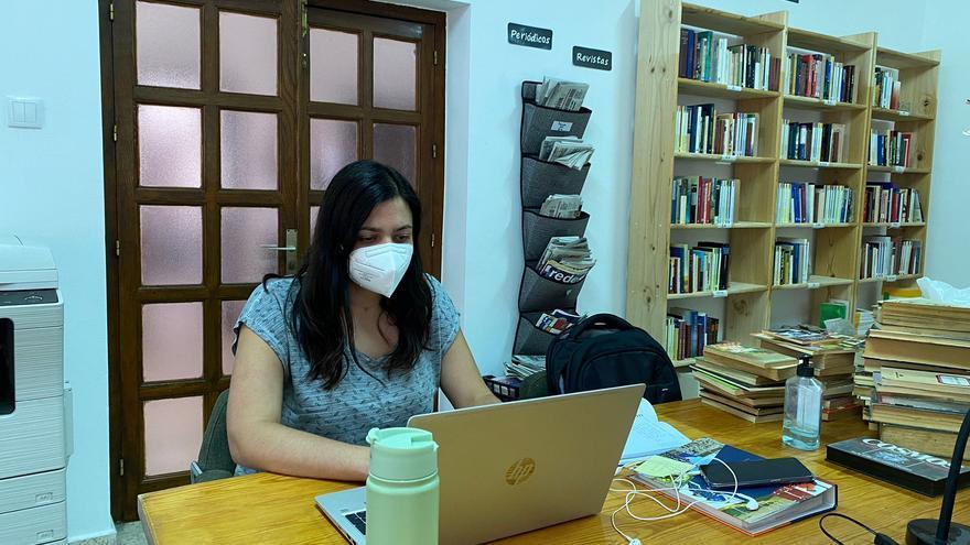 Fonfría cede la biblioteca a vecinos para que puedan teletrabajar