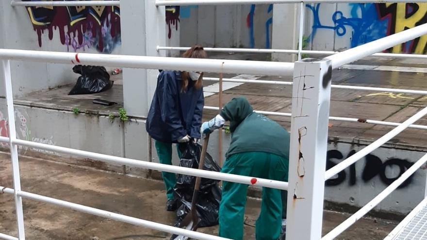 Comienzan los trabajos de limpieza de la Casa del Agua en València