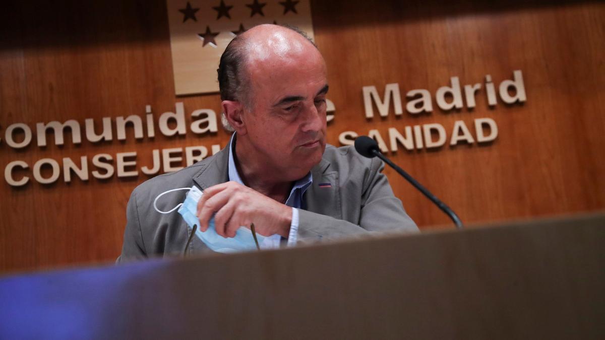 El viceconsejero de Salud Pública de la Comunidad de Madrid, Antonio Zapatero.
