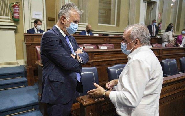 Pleno en el Parlamento de Canarias, 26/10/2021