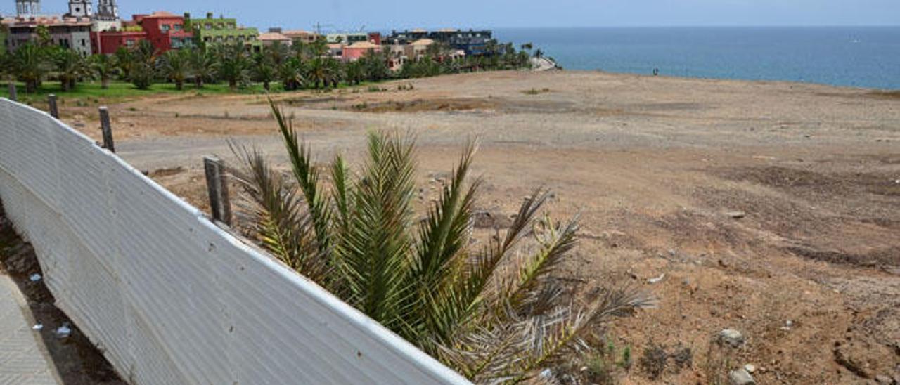 Solar de Meloneras donde se levantará el nuevo complejo hotelero de Lopesan.