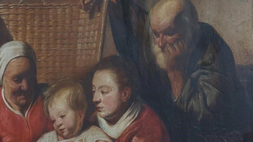 Descubren una pintura de Jordaens en la pared de una oficina belga