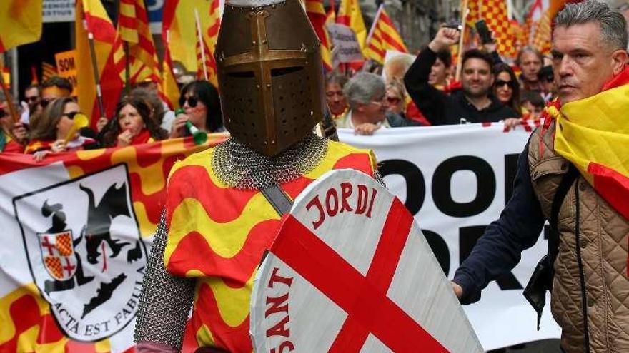 Tabàrnia se estrena en la calle con 15.000 manifestantes en Barcelona