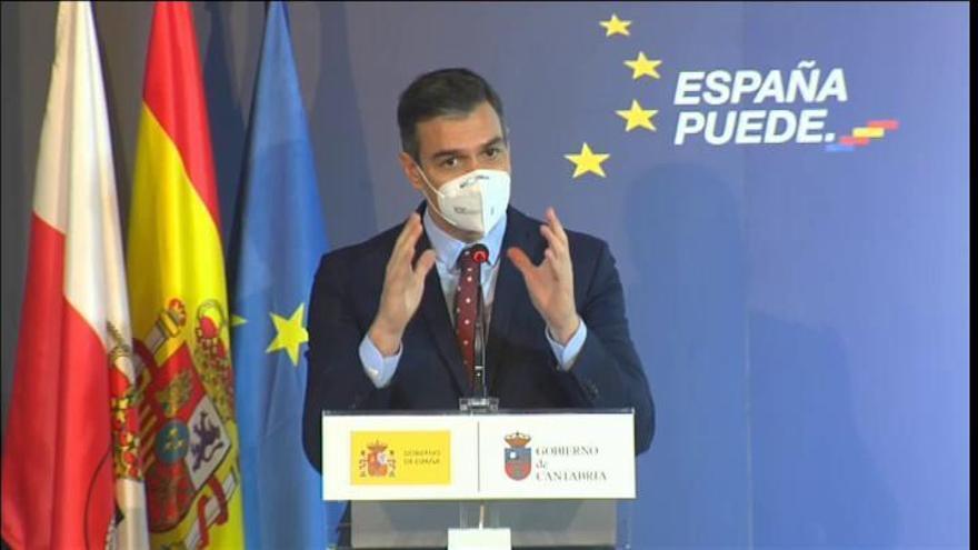 Sánchez estima que entre 15 y 20 millones de españoles estarán vacunados en mayo o junio