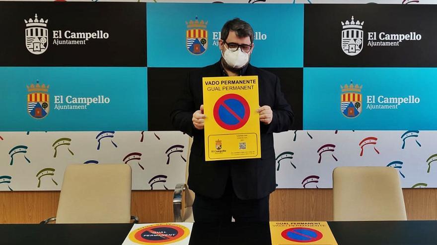 El Campello censa más de 1.200 vados y detecta un 20% irregulares