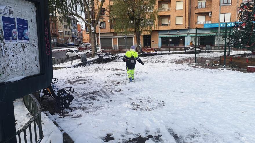 Temporal Filomena en Benavente   Limpieza de nieve y hielo para devolver la operatividad a servicios esenciales