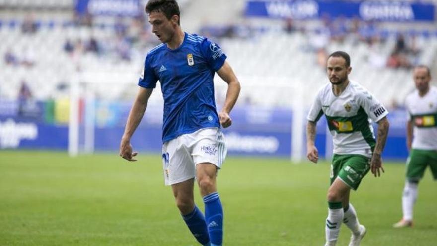 Borja Sánchez, principal novedad en el once titular del Oviedo